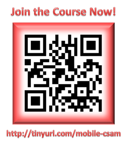Scan this QR code to access the Mobile CSAM MOOC resource